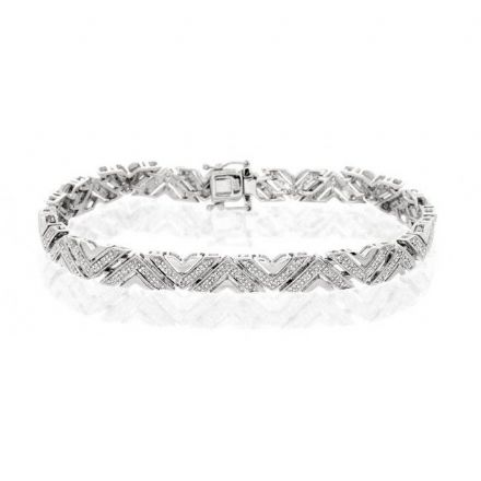 9K White Gold 0.60ct Diamond Bracelet, G1385